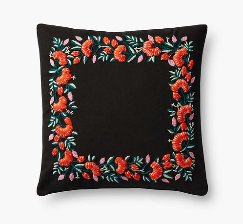 Chrysanthemum Embroidered Pillow