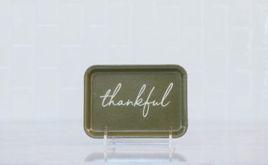 Thankful gathering tray