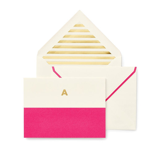 Dipped Initial Notecards