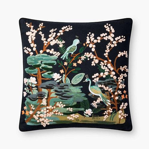 Kyoto Garden Embroidered Pillow
