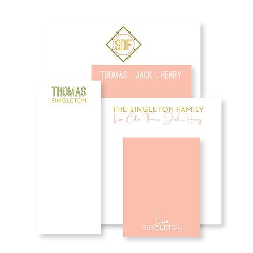 Luxe Set of Mustard Custom Notepads