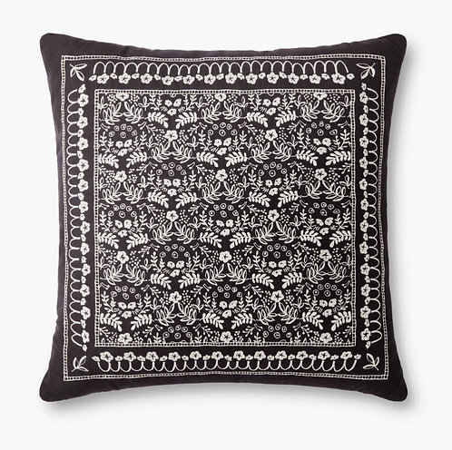 Trellis Embroidered Pillow