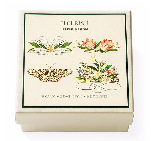Flourish Note Card Box
