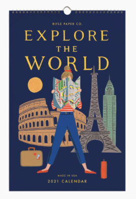 Rifle Paper Co. 2021 Explore the World Wall Calendar