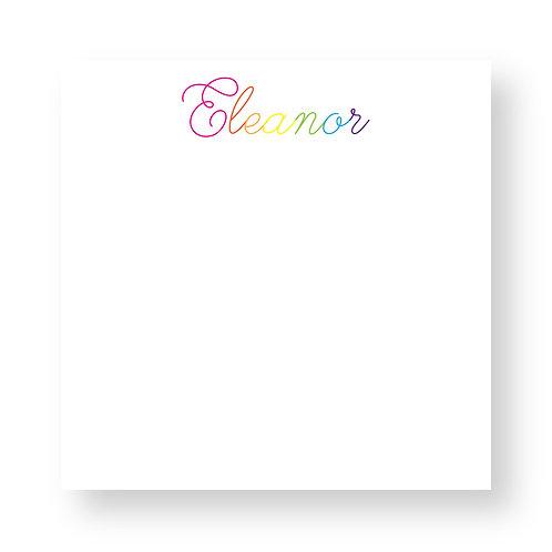 Rainbow Script Notepad