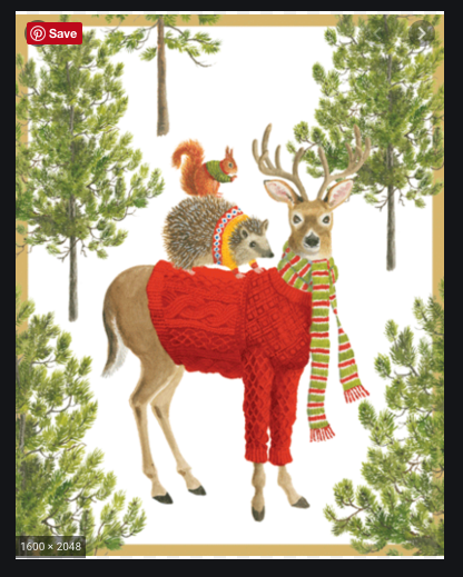Sweater Clad Animals Boxed Christmas Cards