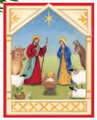 Nativity Scene Boxed Christmas Cards