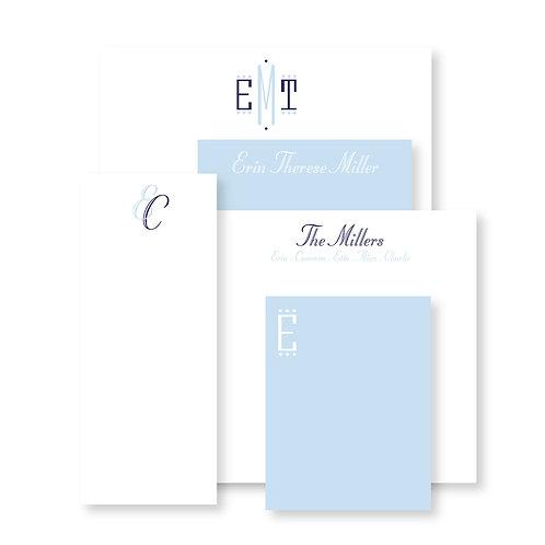 Luxe Set of Cornflower Custom Notepads