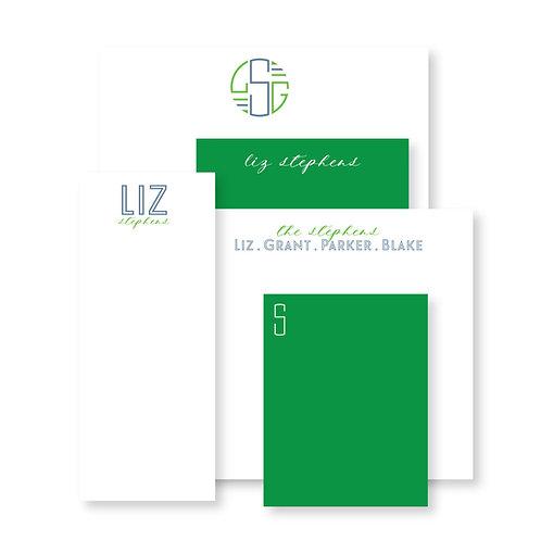 Luxe Set of Green Custom Notepads