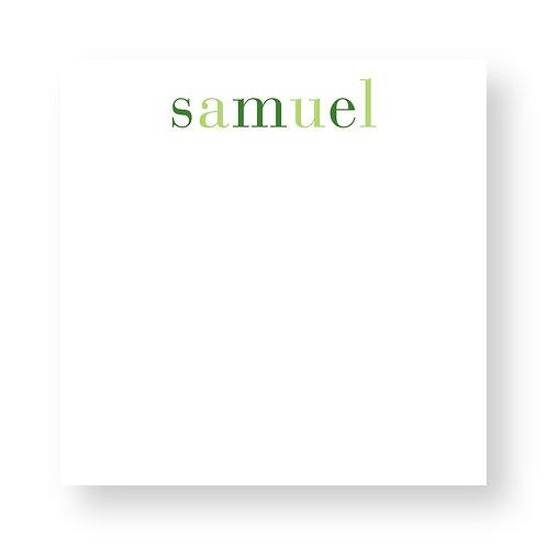 Shaded Greens Notepad
