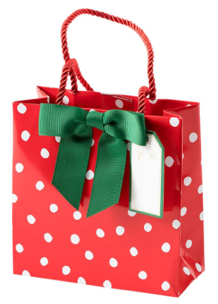 Painted Dots Small Square Gift Bag