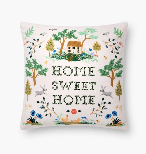 Home Embroidered Pillow