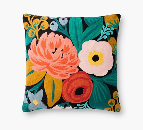 Vintage Blossoms Embroidered Pillow