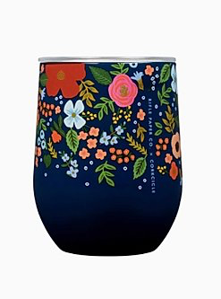 Rifle Paper Co. Wild Rose Stemless Wine Cup