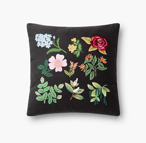 Floral Study Embroidered Pillow