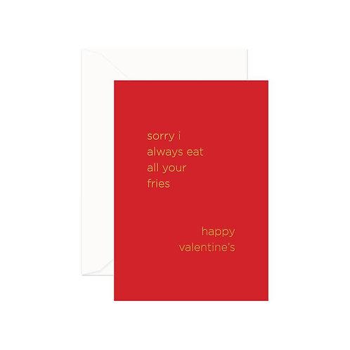 Fries Valentine's Greeting Card