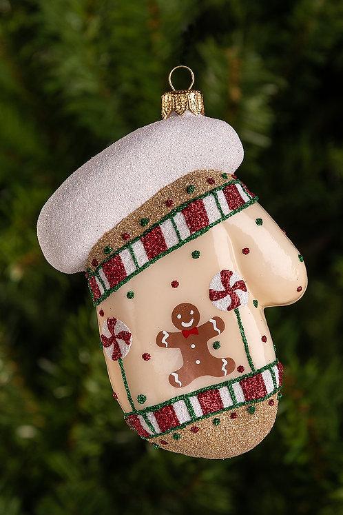 Candy Mitten Ornament