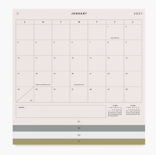 2021 Studio Calendar