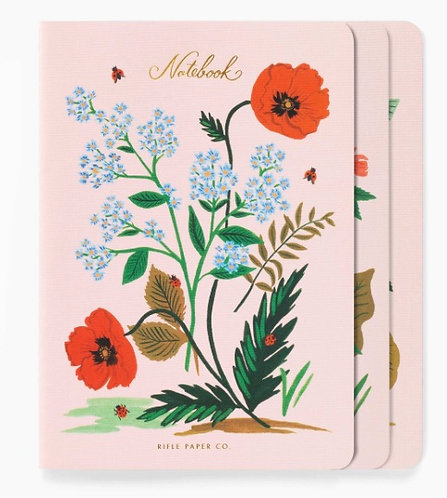 Rifle Paper Co. Botanical Stitched Notebook Set