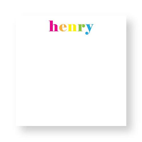 Rainbow Block Notepad