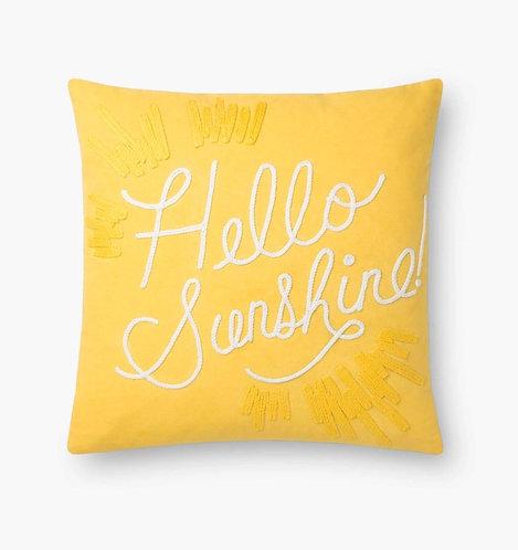 Hello Sunshine Embroidered Pillow