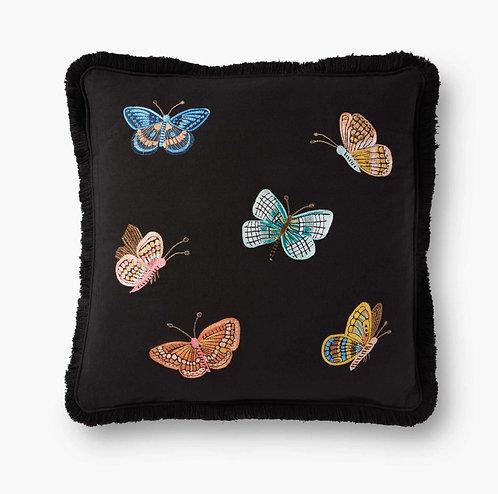 Butterflies Embroidered Pillow