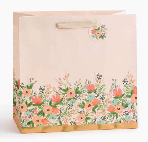 Rifle Paper Co. Large Wildflower Gift Bag