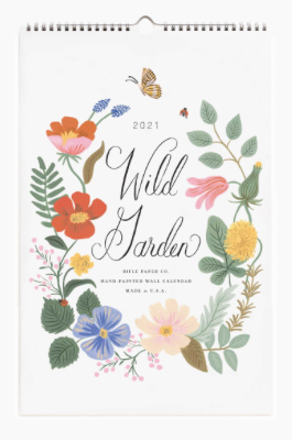 Rifle Paper Co. 2021 Wild Garden Wall Calendar