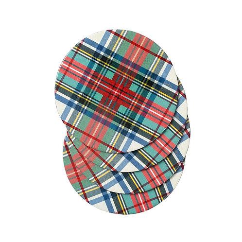 Dress Stewart Tartan Die-Cut Coasters
