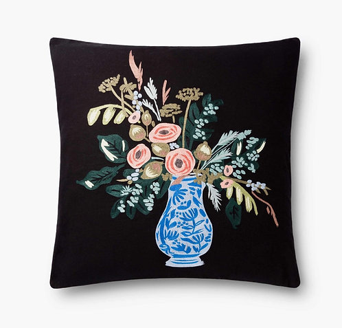 Vase Study No. 1 Embroidered pillow