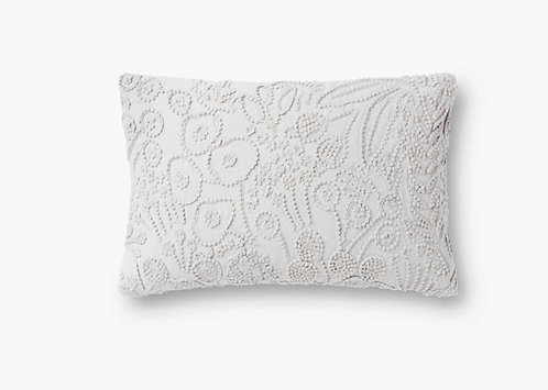 Tapestry Embroidered Lumbar Pillow