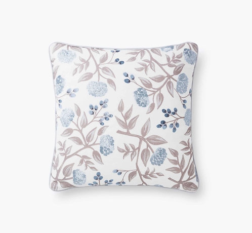 Peonies Embroidered Pillow