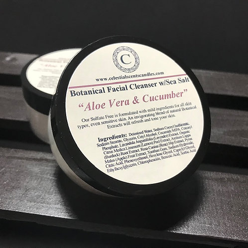 Botanical Facial Cleanser w/Sea Salt - 2oz