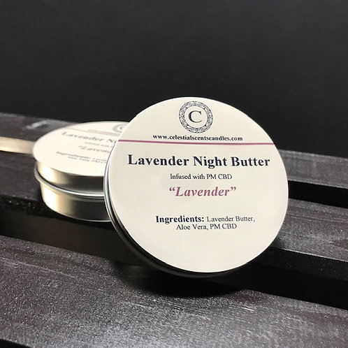 Lavender Night Butter PM CBD Infused -2oz