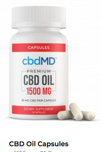 CBD Oil Softgel Capsules - 1500 MG 30 Count