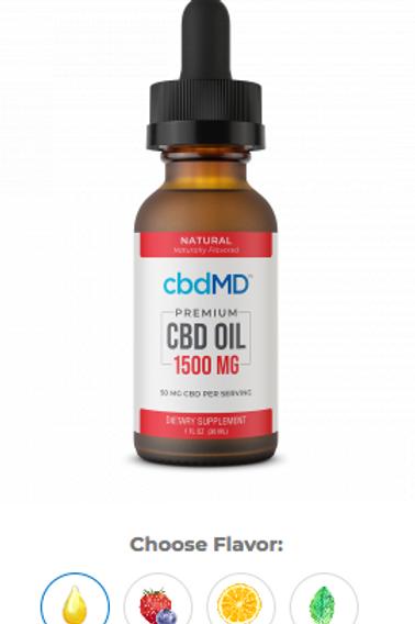 CBD Oil Tincture - 1500 MG 30mL