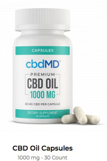 CBD Oil Softgel Capsules - 1000 MG 30 Count
