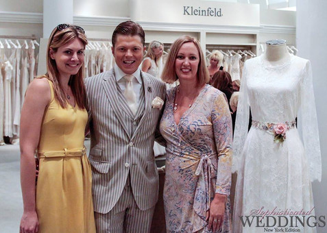Designer Claire Pettibone + Terry Hall at Kleinfeld #NYBFW