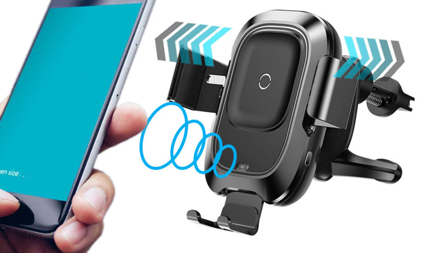 Smart Car Bracket Wireless Charger Air Vent Phone Holder