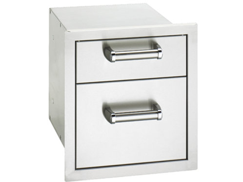Flush Mounted Double Drawers