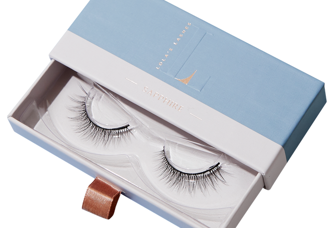 Lola's Lashes, Sapphire Strip Lashes & Clear Flick & Stick Adhesive. Full Size, £30