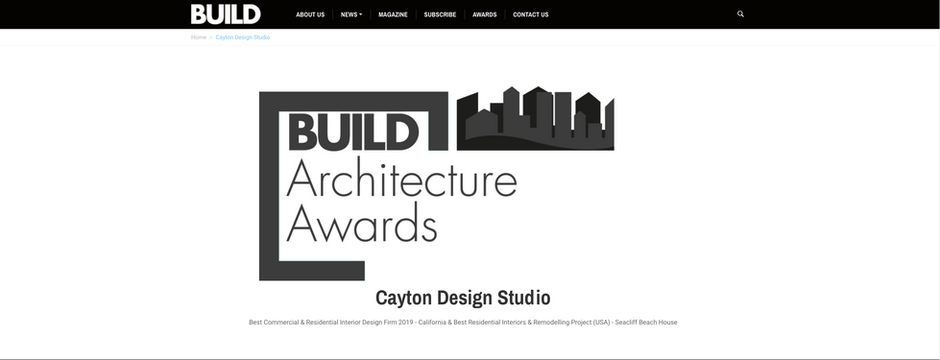 Build Magazine Architectural Awards