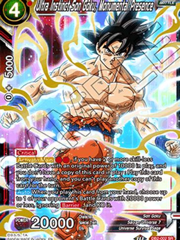 DB2-002 Ultra Instinct Son Goku, Monumental Presence (Super Rare)