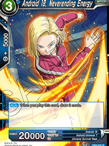DB2-037 Android 18, Neverending Energy (Rare)