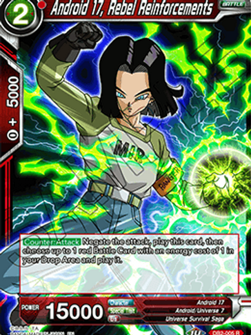 DB2-005 Android 17, Rebel Reinforcements (Rare)