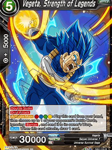 DB2-133 Vegeta, Strength of Legends (Rare)