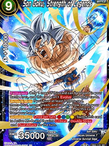 DB2-131 Son Goku, Strength of Legends (Super Rare)
