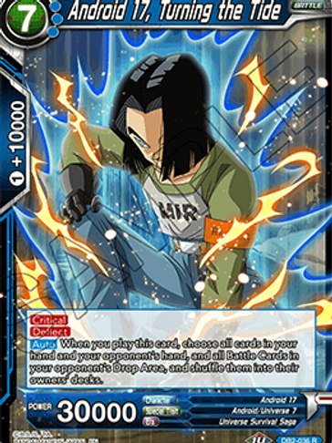 DB2-036 Android 17, Turning the Tide (Rare)