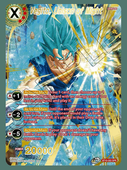 BT10-003 Vegito, Unison of Might SPR