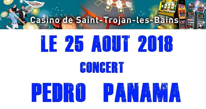 Affiche concert Pedro PANAMA au Casino d